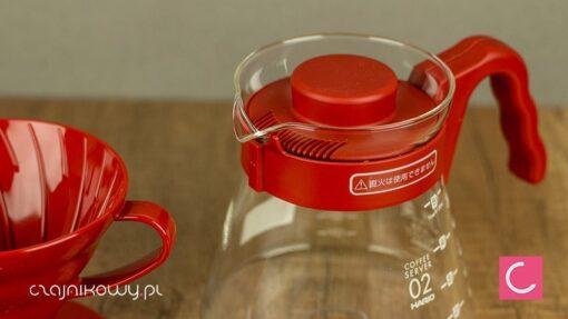 Zestaw do parzenia kawy Hario V60 czerwony