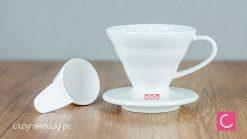 Dripper do kawy Hario V60-01 ceramiczny biały