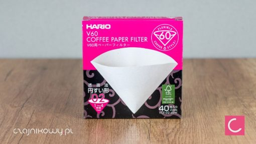 Filtry papierowe do drippera Hario V60 40 szt.