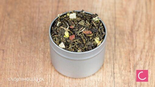 Herbata zielona ananasowo truskawkowa