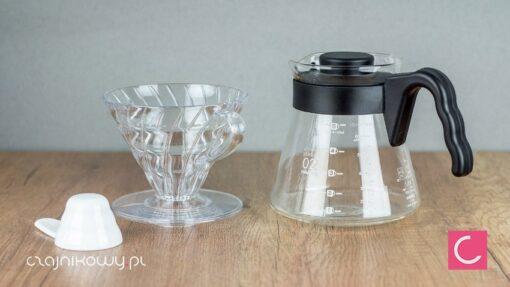 Zestaw do parzenia kawy Hario V60-02 przezroczysty