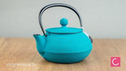 Żeliwny czajnik do herbaty Iwachu morski 500ml