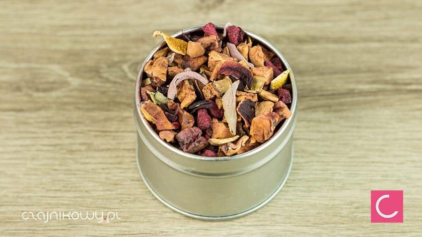 Herbata owocowa malinowo granatowa naturalna, bez aromatów