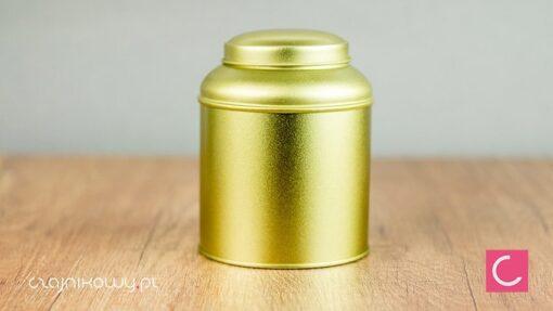 Puszka na herbatę bańka złota 150g