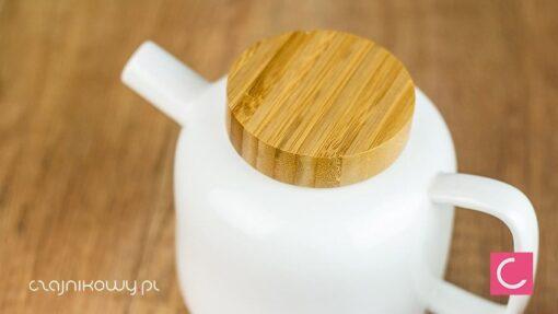 Zestaw do parzenia herbaty porcelanowy bambusowy Thijs wieko