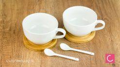 Zestaw do parzenia herbaty porcelanowy bambusowy Thijs