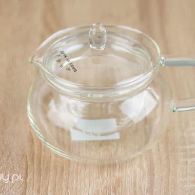 Czajnik szklany do herbaty z zaparzaczem 450ml