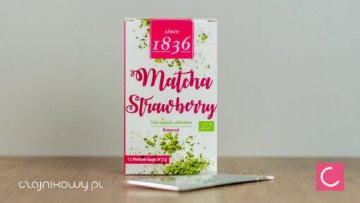 Herbata zielona Matcha truskawkowa 2g organiczna