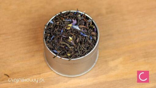 Herbata czarna Earl Grey Blue Flower z kwiatem malwy