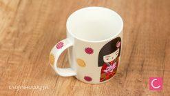 Kubek do herbaty gejsza (czarne włosy) 250 ml