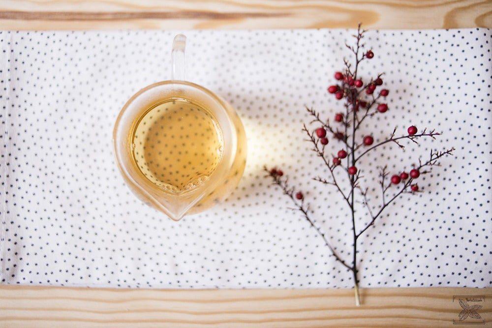 Biała wędzona herbata Pai mu tan Lapsang Fuding: kolor trzeciego naparu