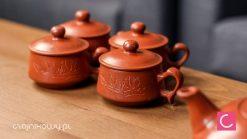 Czajnik do herbaty gliniany 270 ml + 4 czarki 80 ml