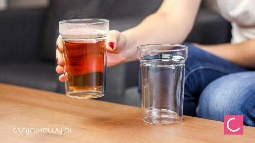 Dwie szklanki podwójne ścianki 300ml