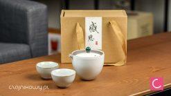 Gaiwan do herbaty jasny koreański 170ml + czarki 40ml