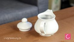Czajnik do herbaty biały porcelanowy Wersal 400ml