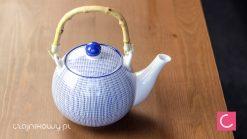Czajnik do herbaty biało-niebieski Tokusa 1l