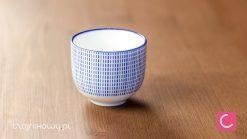Czarka do herbaty biało-niebieska Tokusa 120ml
