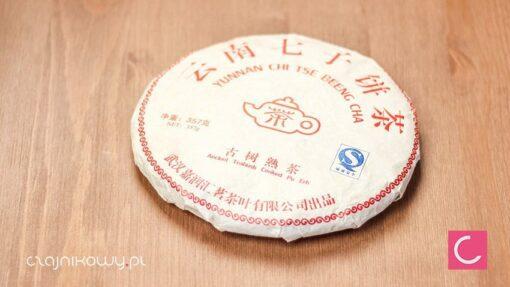 Herbata czerwona pu-erh Yunnan Chi Tse Beeng Cha 357g