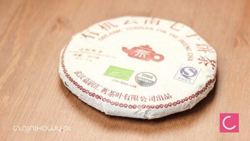 Herbata czerwona pu-erh Yunnan Chi Tse Beeng Cha organiczna 357g