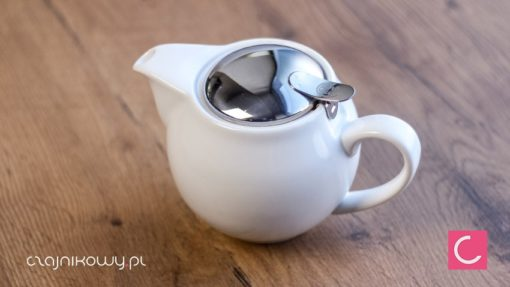 Czajnik do herbaty biały otwiera Sara 600ml