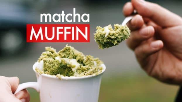 Przepis na babeczki z zieloną herbatą Matcha z mikrofalówki w 3 minuty