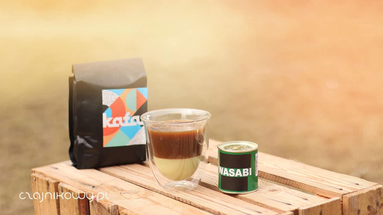 Kawa z Wasabi i mleczkiem w tubce