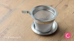 Zaparzacz sitko do herbaty metalowy z podstawką 8 cm