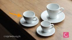 Filiżanka do kawy cappuccino ze spodkiem 125ml