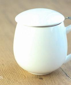Najlepszy kubek do parzenia herbaty biały 0,35l