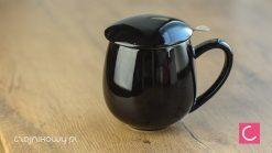 Najlepszy kubek do parzenia herbaty czarny 0,35l