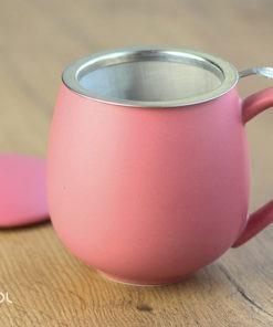 Najlepszy kubek do parzenia herbaty różowy matowy 0,35lNajlepszy kubek do parzenia herbaty różowy matowy 0,35l