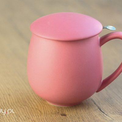 Najlepszy kubek do parzenia herbaty różowy matowy 0,35l