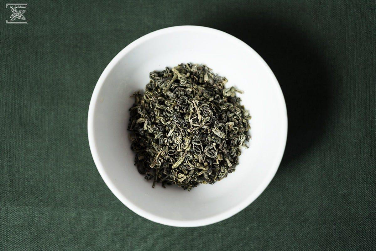 Herbata zielona oolong Haicha, parzenie, opinie: liście/susz