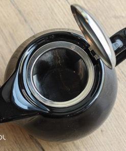 Czajnik do herbaty czarny otwierany Sara 600ml