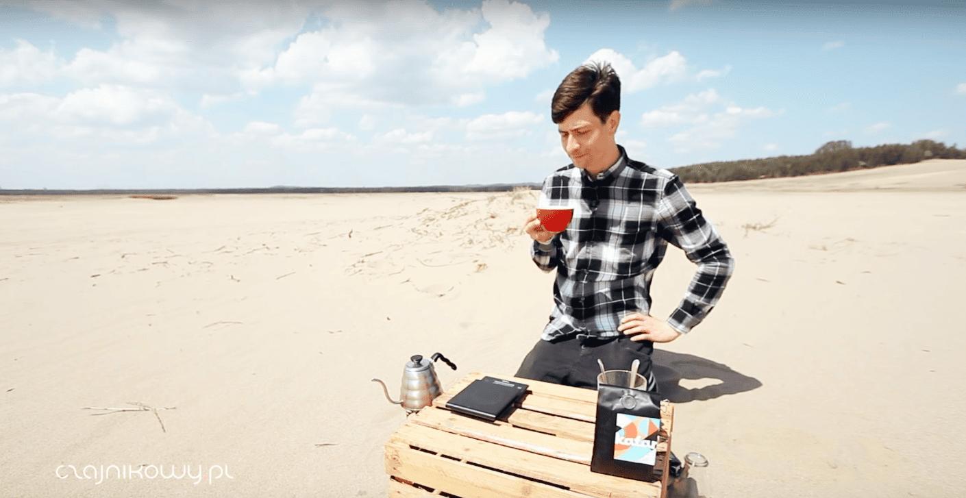 Test wody z lodowca - parzenie kawy