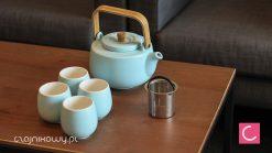 Zestaw do parzenia herbaty Beppo: czajnik, czarki (bez tacy)