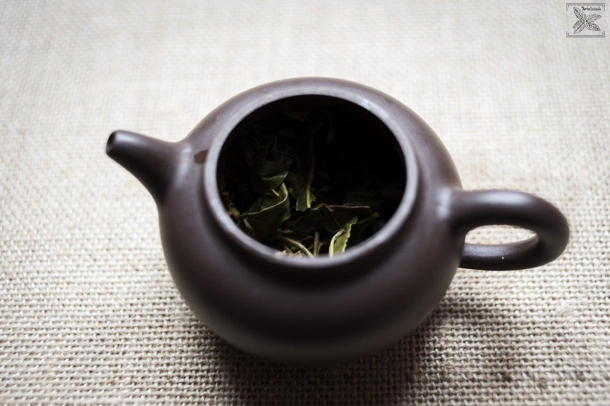 Herbata Darjeeling Orange Valley 2018, czajnik po parzeniu