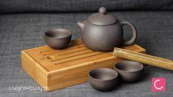 Podręczny zestaw do parzenia herbaty Zeng: chapan, czajnik, czarki