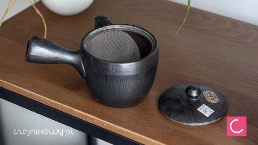 Japoński czajnik do herbaty Kyusu grafit 340ml