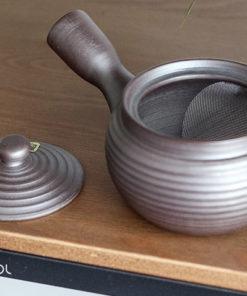 Japoński czajnik do herbaty Kyusu brązowy 330ml