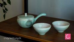 Czajnik 120ml i dwie czarki Levi do parzenia herbaty