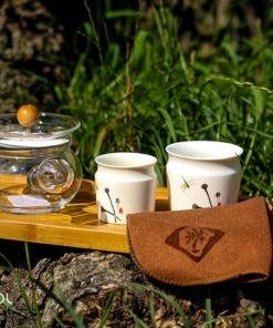 Zestaw do parzenia herbaty Libelle z tacą 150 ml