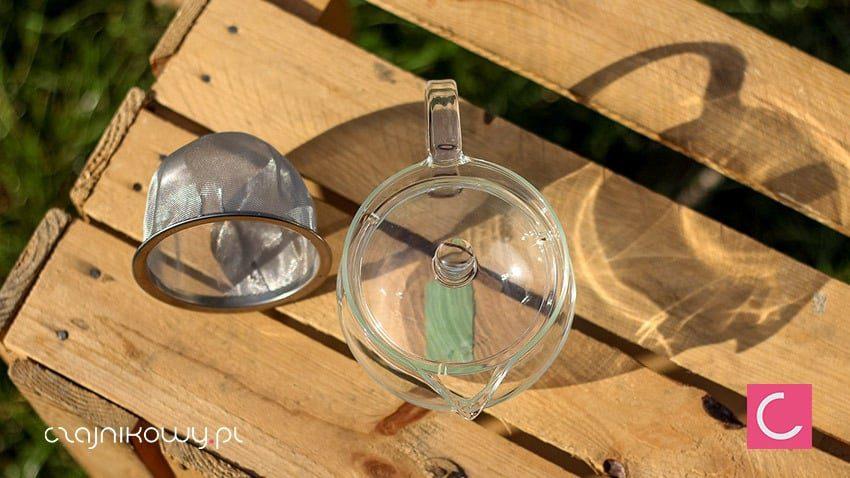 Czajnik szklany do herbaty Hario z ogromnym sitkiem 300ml