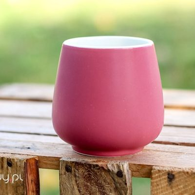 Czarka do herbaty Sara matowa różowa 250ml