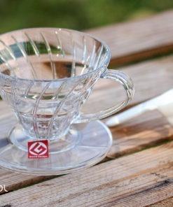 Dripper do kawy Hario V60-01 plastikowy przezroczysty