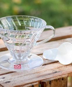 Dripper do kawy Hario V60-02 plastikowy przezroczysty