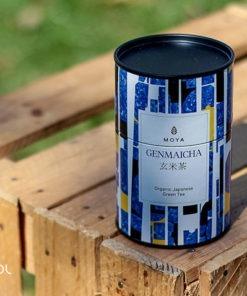 Herbata zielona Moya Genmaicha organiczna puszka 60g