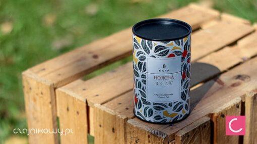 Herbata zielona Moya Hojicha organiczna puszka 60g