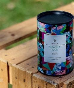 Herbata zielona Moya Sencha organiczna puszka 60g