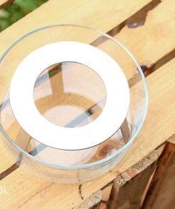Podrzewacz do czajnika szklany na tealight
